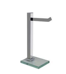 Porta Toalha de Bancada em Aço Inox Polido Premium Vidro Incolor Ducon