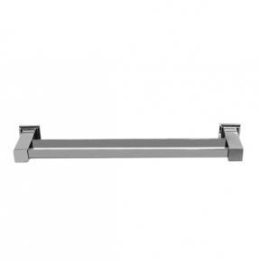Porta Toalha de Banho Duplo Premium em Aço Inox Polido 51cm Ducon