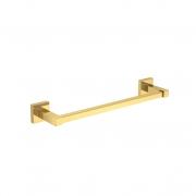 Porta Toalhas Barra Quadratta 30cm 2040 Gold Deca