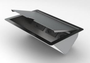 Porta Tomadas de Embutir 136x200mm em Aço Inox com 3 Tomadas 20A Xteel