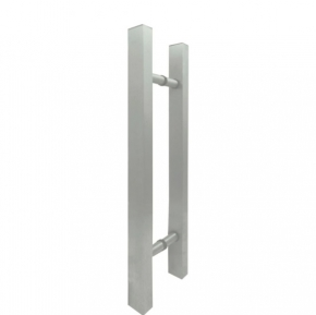 Puxador Duplo para Porta de Vidro/Madeira 450mm Classic em Alumínio Anodizado Ducon