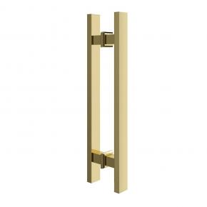 Puxador para Porta Duplo 45cm Inox Gold Ducon