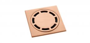 Ralo Inox com Válvula de Fechamento 10 cm Brush Rose Gold Doka