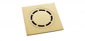 Ralo Inox com Válvula de Fechamento 15cm Brushed Gold Doka