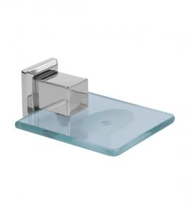 Saboneteira em Aço Inox Polido Premium com Vidro Incolor Ducon