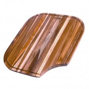Tabua de Preparaçao em Madeira p/ Cuba 3 e Quinline 35,5x41,5cm Teca Franke