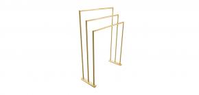 Toalheiro Arch Triplo Inox Gold Doka
