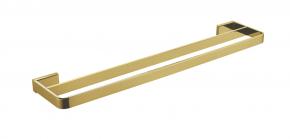 Toalheiro de Parede Duplo Rainbow Brushed Gold Doka