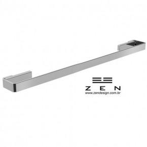 Toalheiro Simples 30cm Spirit Polido Cromado Zen Design