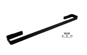 Toalheiro Simples 70cm Spirit Zen Design Preto Fosco