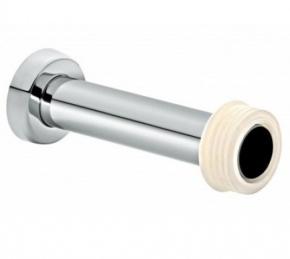 Tubo de Ligação de 20cm Ajustável para Bacia Cromado Docol