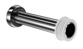 Tubo De Ligação Bacia 20cm Grafite Polido Docol