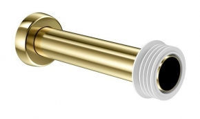 Tubo De Ligação Bacia 20cm Ouro Polido Docol