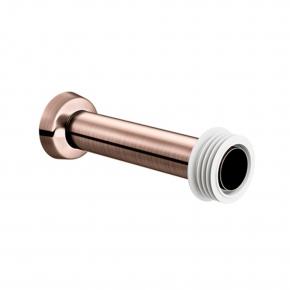Tubo De Ligação Bacia 25cm Cobre Escovado
