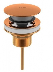 Válvula de Escoamento Click para Lavatório 1601 Luxo Red Gold Deca
