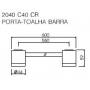 Porta Toalha Barra 2040 Targa C40 Cromado Deca