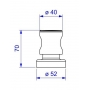 Acabamento para Registros de 1/2, 3/4 e 1(PQ) 4900 Aspen C35 Cromado Deca