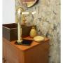 Porta Toalha Para Bancada em Aço Inox Dourado C/ Vidro Preto Ducon