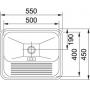 Tanque Monobloco 40x50 11468 Polido (Acabamento Fosco) Franke