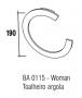 Toalheiro Argola Woman Zen Design Cromado