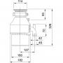 Triturador de Alimentos Mod55 0,55 HP Franke 110v