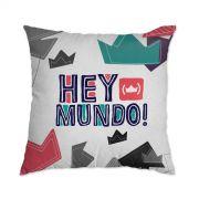 Almofada Thiaguinho Hey Mundo! Logo