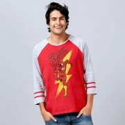 Blusa Raglan Masculina The Flash The Scarlet