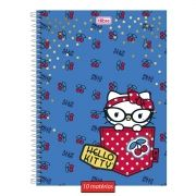 Caderno Hello Kitty Blue Cherry 10 Matérias