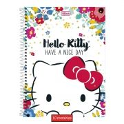 Caderno Hello Kitty Have A Nice Day 10 Matérias