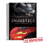 Caderno 10 Matérias Injustice Batman e Superman
