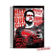 Caderno Batman VS Superman False God 10 Matérias