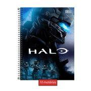 Caderno Halo Blue Team 10 Matérias