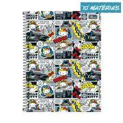 Caderno Hello Kitty DC Comics HQ 10 Matérias