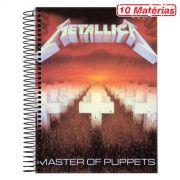 Caderno Metallica Master Of Puppets 10 Matérias