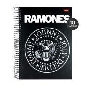 Caderno Ramones Hey Ho Lets Go 10 Matérias