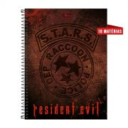 Caderno Resident Evil Stars R.P.D. 10 Matérias