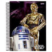Caderno Star Wars R2D2 C3PO 1 Matéria