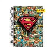 Caderno Superman Logo Quadrinhos 10 Matérias