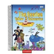 Caderno The Beatles Yellow Submarine 10 Matérias