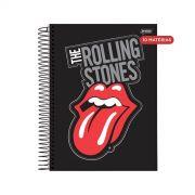 Caderno The Rolling Stones Black Logo 10 Matérias