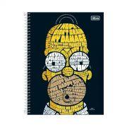Caderno The Simpsons Homer Type 10 Matérias