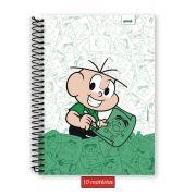 Caderno Turma da Mônica Cebolinha 10 Matérias