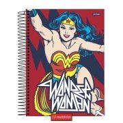 Caderno Wonder Woman Classic HQ Warrior Action 10 Matérias