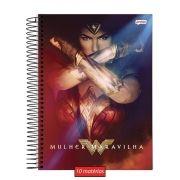Caderno Wonder Woman Power 10 Matérias