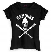 Camiseta Feminina Ramones Gabba Gabba Hey