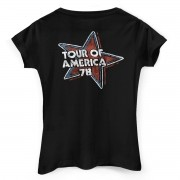 Camiseta Feminina The Rolling Stones Flag