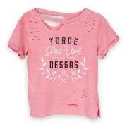 Camiseta Chocker Feminina Luan Santana Torce pra Você