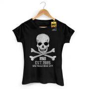 Camiseta Feminina 89 FM A Rádio Rock Est 1985