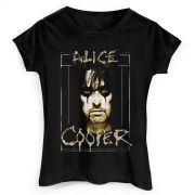 Camiseta Feminina Alice Cooper Photo