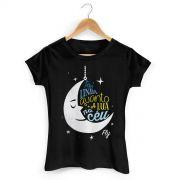 Camiseta Feminina Banda Fly Cabelos de Algodão